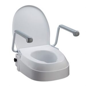Homecraft Raised Toilet Seat with Armrests